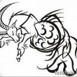 фото Эскизы тату козерог от 29.09.2017 №080 - Sketchesf a capricorn tattoo - tatufoto.com