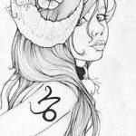 фото Эскизы тату козерог от 29.09.2017 №082 - Sketchesf a capricorn tattoo - tatufoto.com