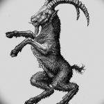 фото Эскизы тату козерог от 29.09.2017 №084 - Sketchesf a capricorn tattoo - tatufoto.com