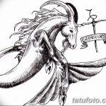 фото Эскизы тату козерог от 29.09.2017 №084 - Sketchesf a capricorn tattoo - tatufoto.com 236262434
