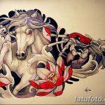 фото Эскизы тату конь от 29.09.2017 №002 - Sketches of a horse tattoo - tatufoto.com