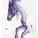 фото Эскизы тату конь от 29.09.2017 №003 - Sketches of a horse tattoo - tatufoto.com