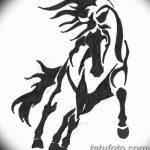 фото Эскизы тату конь от 29.09.2017 №005 - Sketches of a horse tattoo - tatufoto.com