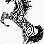 фото Эскизы тату конь от 29.09.2017 №010 - Sketches of a horse tattoo - tatufoto.com