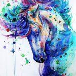 фото Эскизы тату конь от 29.09.2017 №011 - Sketches of a horse tattoo - tatufoto.com