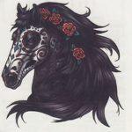 фото Эскизы тату конь от 29.09.2017 №012 - Sketches of a horse tattoo - tatufoto.com