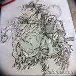 фото Эскизы тату конь от 29.09.2017 №014 - Sketches of a horse tattoo - tatufoto.com