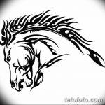 фото Эскизы тату конь от 29.09.2017 №015 - Sketches of a horse tattoo - tatufoto.com