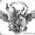 фото Эскизы тату конь от 29.09.2017 №016 - Sketches of a horse tattoo - tatufoto.com
