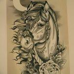 фото Эскизы тату конь от 29.09.2017 №018 - Sketches of a horse tattoo - tatufoto.com