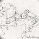 фото Эскизы тату конь от 29.09.2017 №019 - Sketches of a horse tattoo - tatufoto.com