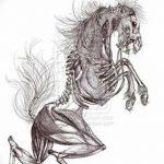 фото Эскизы тату конь от 29.09.2017 №020 - Sketches of a horse tattoo - tatufoto.com