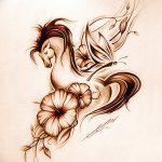 фото Эскизы тату конь от 29.09.2017 №026 - Sketches of a horse tattoo - tatufoto.com