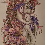 фото Эскизы тату конь от 29.09.2017 №027 - Sketches of a horse tattoo - tatufoto.com