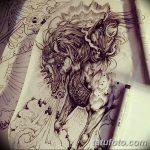 фото Эскизы тату конь от 29.09.2017 №028 - Sketches of a horse tattoo - tatufoto.com