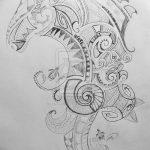 фото Эскизы тату конь от 29.09.2017 №030 - Sketches of a horse tattoo - tatufoto.com