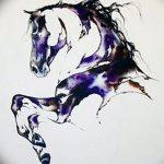 фото Эскизы тату конь от 29.09.2017 №031 - Sketches of a horse tattoo - tatufoto.com