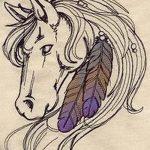 фото Эскизы тату конь от 29.09.2017 №032 - Sketches of a horse tattoo - tatufoto.com