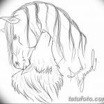 фото Эскизы тату конь от 29.09.2017 №038 - Sketches of a horse tattoo - tatufoto.com