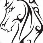 фото Эскизы тату конь от 29.09.2017 №040 - Sketches of a horse tattoo - tatufoto.com