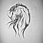 фото Эскизы тату конь от 29.09.2017 №042 - Sketches of a horse tattoo - tatufoto.com
