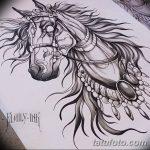фото Эскизы тату конь от 29.09.2017 №043 - Sketches of a horse tattoo - tatufoto.com