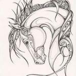 фото Эскизы тату конь от 29.09.2017 №044 - Sketches of a horse tattoo - tatufoto.com