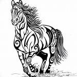 фото Эскизы тату конь от 29.09.2017 №048 - Sketches of a horse tattoo - tatufoto.com