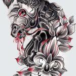 фото Эскизы тату конь от 29.09.2017 №049 - Sketches of a horse tattoo - tatufoto.com