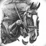 фото Эскизы тату конь от 29.09.2017 №052 - Sketches of a horse tattoo - tatufoto.com
