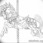 фото Эскизы тату конь от 29.09.2017 №054 - Sketches of a horse tattoo - tatufoto.com