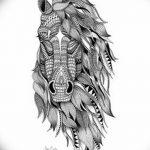 фото Эскизы тату конь от 29.09.2017 №056 - Sketches of a horse tattoo - tatufoto.com