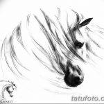 фото Эскизы тату конь от 29.09.2017 №059 - Sketches of a horse tattoo - tatufoto.com