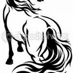 фото Эскизы тату конь от 29.09.2017 №061 - Sketches of a horse tattoo - tatufoto.com