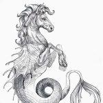 фото Эскизы тату конь от 29.09.2017 №062 - Sketches of a horse tattoo - tatufoto.com