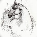 фото Эскизы тату конь от 29.09.2017 №068 - Sketches of a horse tattoo - tatufoto.com