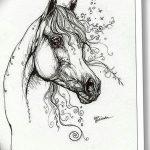 фото Эскизы тату конь от 29.09.2017 №071 - Sketches of a horse tattoo - tatufoto.com