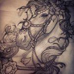 фото Эскизы тату конь от 29.09.2017 №076 - Sketches of a horse tattoo - tatufoto.com