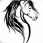 фото Эскизы тату конь от 29.09.2017 №078 - Sketches of a horse tattoo - tatufoto.com