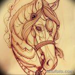 фото Эскизы тату конь от 29.09.2017 №085 - Sketches of a horse tattoo - tatufoto.com