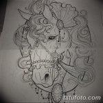 фото Эскизы тату конь от 29.09.2017 №086 - Sketches of a horse tattoo - tatufoto.com