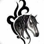 фото Эскизы тату конь от 29.09.2017 №087 - Sketches of a horse tattoo - tatufoto.com