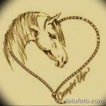 фото Эскизы тату конь от 29.09.2017 №090 - Sketches of a horse tattoo - tatufoto.com