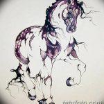 фото Эскизы тату конь от 29.09.2017 №091 - Sketches of a horse tattoo - tatufoto.com