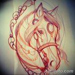 фото Эскизы тату конь от 29.09.2017 №094 - Sketches of a horse tattoo - tatufoto.com