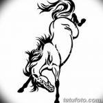 фото Эскизы тату конь от 29.09.2017 №100 - Sketches of a horse tattoo - tatufoto.com