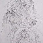 фото Эскизы тату конь от 29.09.2017 №101 - Sketches of a horse tattoo - tatufoto.com