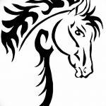 фото Эскизы тату конь от 29.09.2017 №102 - Sketches of a horse tattoo - tatufoto.com