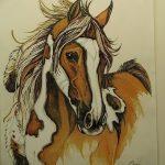 фото Эскизы тату конь от 29.09.2017 №103 - Sketches of a horse tattoo - tatufoto.com