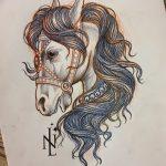 фото Эскизы тату конь от 29.09.2017 №107 - Sketches of a horse tattoo - tatufoto.com